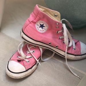 Girls Pink Converse Hightops